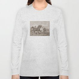 HORSES ON A PASTURE  Long Sleeve T-shirt