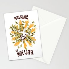 more hands for more coffee Stationery Cards