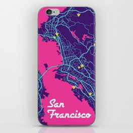 San Francisco map iPhone Skin