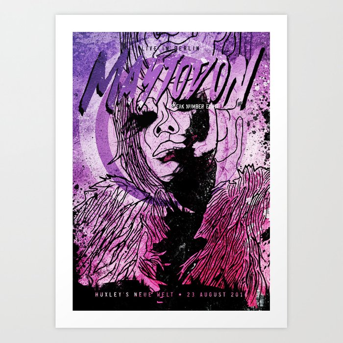 Mastodon Live in Berlin Art Print