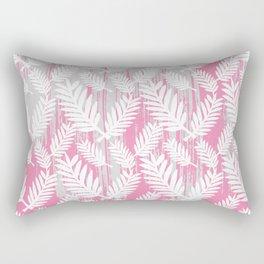 Fuchsia modern watercolor brushstrokes white floral Rectangular Pillow