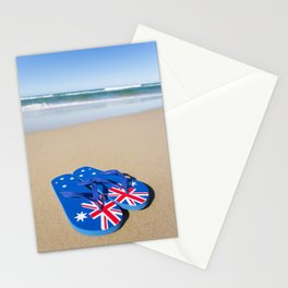Australian Beach Thongs Stationery Cards