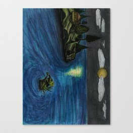 The Beast Approaches Canvas Print