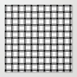 White Weave Canvas Print
