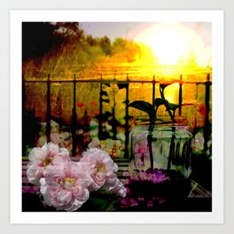 Sunset Balcony Art Print