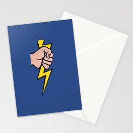 A vectorised Roy Lichtenstein, lining bolt. Stationery Cards