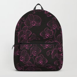 Seamless flower pattern with orchids phalaenopsis background Backpack