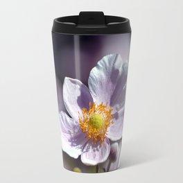 Pretty in White and Purple Travel Mug