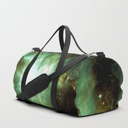 Galaxy : Orion Nebula Green Duffle Bag