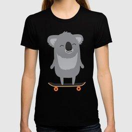 Cute cartoon koala skateboarding T-shirt