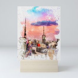 Sao Paulo - WaterColor 003 Mini Art Print