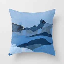 Mountain X Throw Pillow