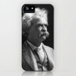Mark Twain Portrait iPhone Case