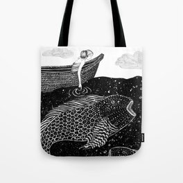 The Shimmering Sea Lights Tote Bag