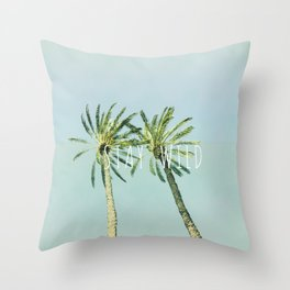 Stay wild - palms Throw Pillow