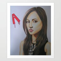 pretty little liars Art Prints featuring Spencer Hastings Pretty Little Liars by Sanne Kapelle