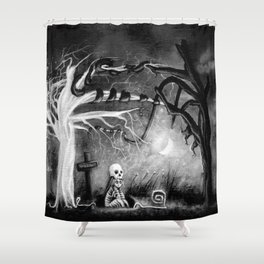 rest in expectation Shower Curtain