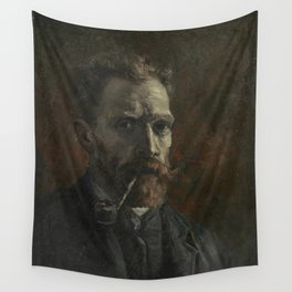 Self-Portrait with Pipe Wall Tapestry