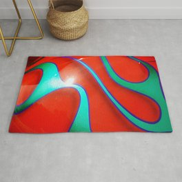 Flaming Red Hot Rod Rug