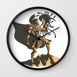 perseus holding the head of the medusa Wall Clock