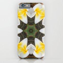 Frangipani Flower Kaleidoscope iPhone Case