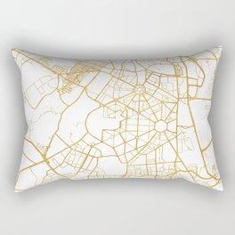 NEW DELHI INDIA CITY STREET MAP ART Rectangular Pillow