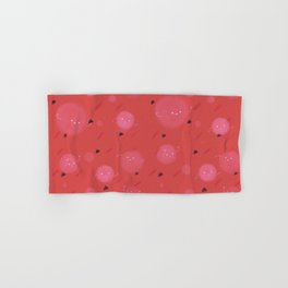 Red bubble Hand & Bath Towel