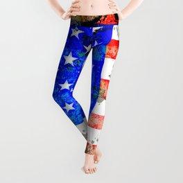 Extreme Grunge American Flag Leggings