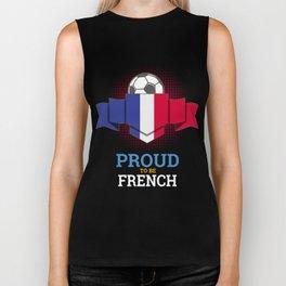 Football French France Soccer Team Sports Footballer Goalie Rugby Gift Biker Tank