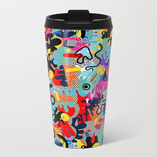 Color blobs 002 Metal Travel Mug