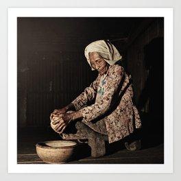Grandmother 04 Art Print