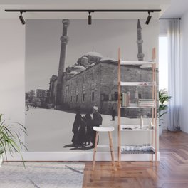 Istanbul mosque photo, black & white fine art, Turkey photography, Middle East Wall Mural