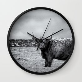 The Highland Coo Wall Clock