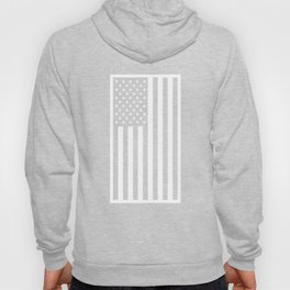 American Flag - Black and White Version Hoody