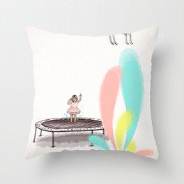 Gazelles Make Bad Friends Throw Pillow