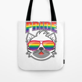 Proud Cat Pet Rainbow Kitten Tote Bag
