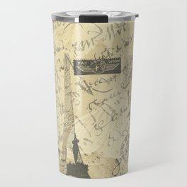 Parisian French Script Travel Mug