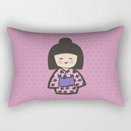 Geisha Dress Code (pink) Rectangular Pillow