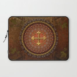 Mandala Armenian Cross Laptop Sleeve