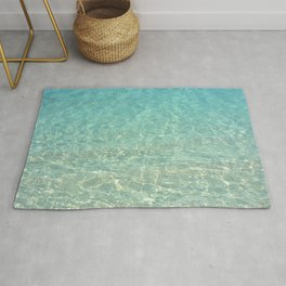Colors of the Sea Water - Clear Turquoise Rug