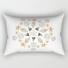 Florida Beachcombing Mandala 1 - Watercolor Rectangular Pillow