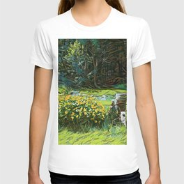 Wagon Wheel landscape T-shirt