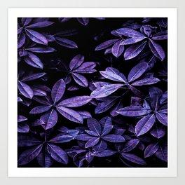 Stillness, Botanical Plants Leaves Art Print