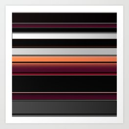 Splash of Color Silver Burgundy Black White Stripes Art Print