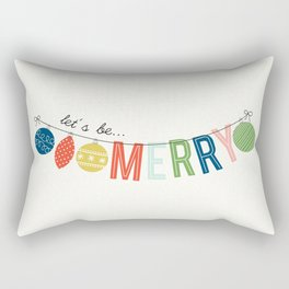 Home for the Holidays | Let's be Merry Rectangular Pillow