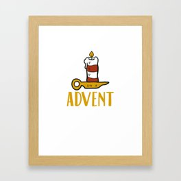 Advent One Candle Christmas Season Countdown Cool Framed Art Print