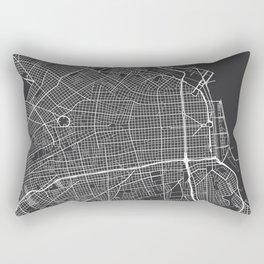 Buenos Aires Map, Argentina - Gray Rectangular Pillow