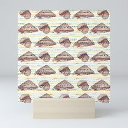 Vintage Seashells Pattern Mini Art Print