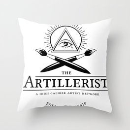 High Caliber Tee (White) Throw Pillow