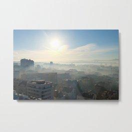 Belgrade / Morning Fog Metal Print